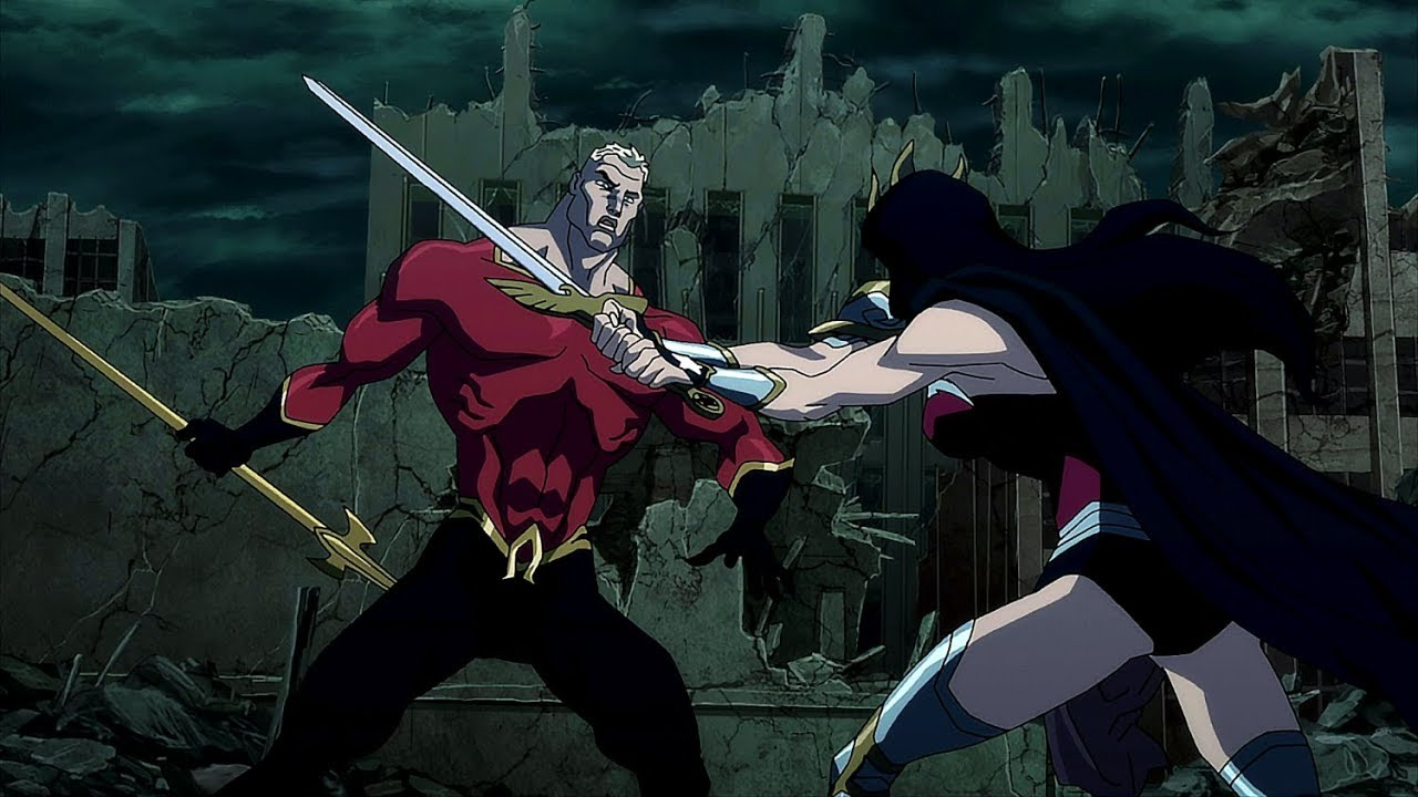 Wonder Woman vs Aquaman | Justice League: The Flashpoint Paradox - YouTube