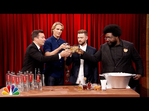 Justin Timberlake Teaches Jimmy How to Make a Tequila Cocktail