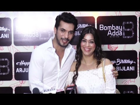 Arjun Bijlani With Wife At His Birthday Party