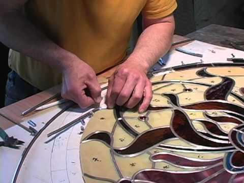 Stained Glass Artist Creates a Custom Window for Victorian Era House Near Boston