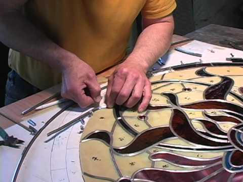 Stained Glass Artist Creates a Custom Window for Victorian Era House Near Boston
