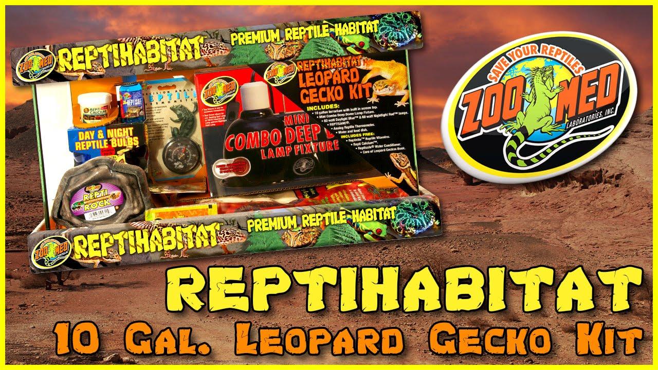 Zoo Med 10 Gallon Reptihabitat Leopard Gecko Kit Youtube