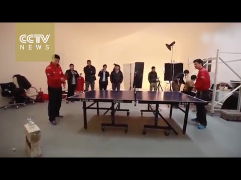 Freestyle ping pong! Chinese team shows amazing table tennis skills