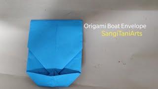 Envelope with no glue no scissors (boat) | wedding envelope | #origami giftideas