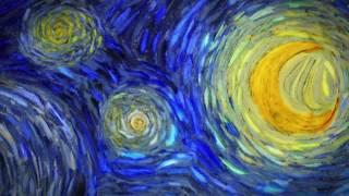 The animation of VAN GOGH's starry night