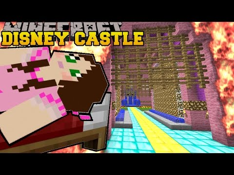 Minecraft: BURNING DISNEY CASTLE (BURNING DOWN NOTCH LAND!) Mini-Game