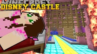 Minecraft: BURNING DISNEY CASTLE (BURNING DOWN NOTCH LAND!) Mini-Game