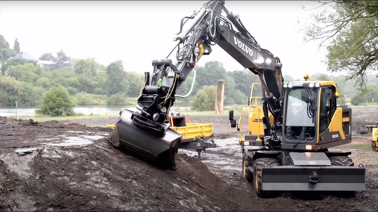 Video Walkaround Ew160e Wheeled Excavator Digger Youtube