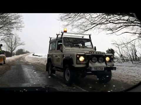 Snow Road A345 between Amesbury uk and Salisbury uk 3/03/2018
