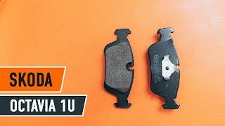 Montaż Klocki Hamulcowe tylne i przednie SKODA OCTAVIA (1U2): darmowe wideo