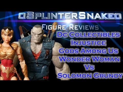 Figure Review - Dc Collectibles - Injustice Gods Among Us - Wonder Woman Vs Solomon Grundy