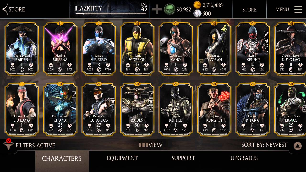 GIVING AWAY MKX ANDROID ACCOUNT- READ DESCRIPTION!!! by Alphapiggy