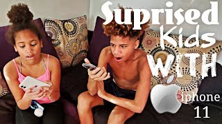 Surprised Kids With iphone 11| Five Below iphone cases | Myhouse TV