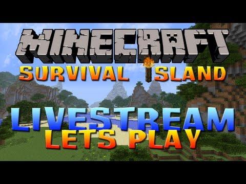 MINECRAFT | Survival Island Solo Part 1: Livestream Edition