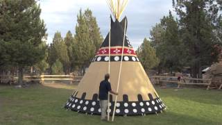 Using the Smoke Flaps on Your Tipi