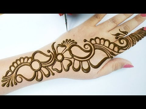 इस नए तरीके से मेहँदी लगाना सीखे - Arabic Mehndi Design Simple Mehndi Design - New Mehndi Design