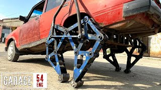 Lada-walker: we fitted legs to a car!