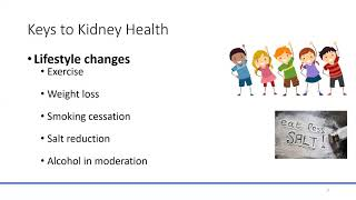 In the early stages of chronic kidney disease, lifestyle changes (such as getting more exercise, stopping smoking and cutting down on sodium), managing other...