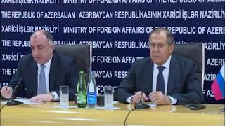 Пресс-конференция С.Лаврова и Э.Мамедъярова