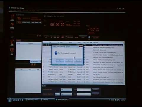 Using Denon Music Manager to create a database HD-2500