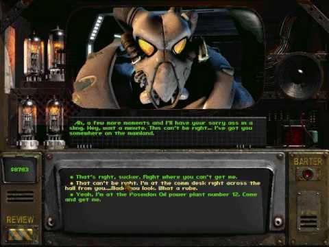 Fallout 2 has interesting dialogue