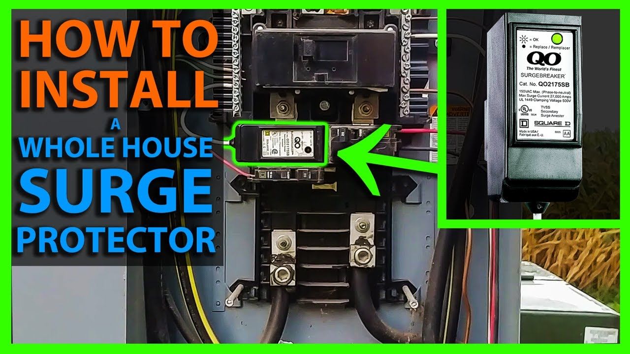 hight resolution of how to install a whole house surge protector in your main panel
