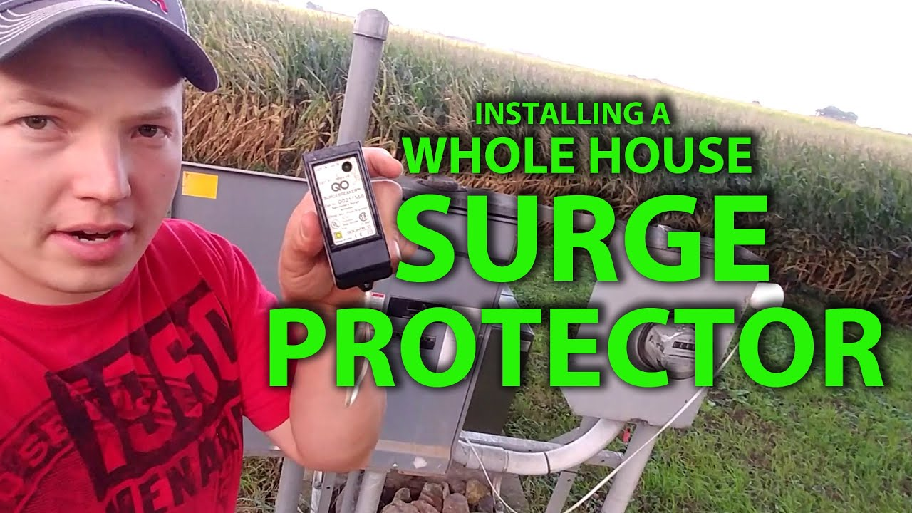 how to install a whole house surge protector in your main panel [ 1280 x 720 Pixel ]