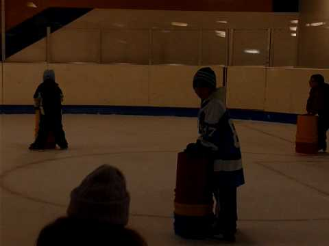 Bucket Boy learns to Ice Skate.. In Pittsburgh Pennsylvania