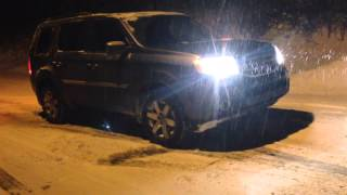 honda pilot 2014 awd vtm-4 lock diagonal test in iced hill