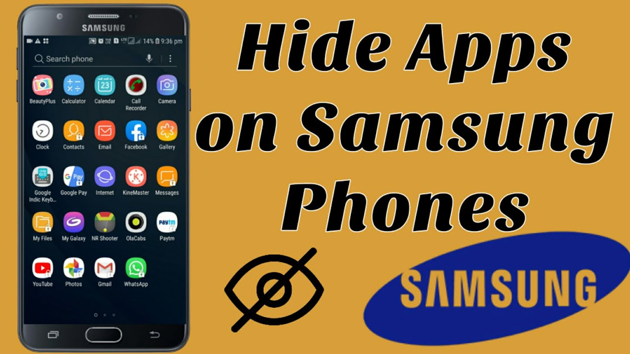 How To Hide Apps On Samsung Phone Youtube