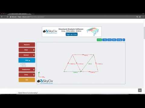Free Online Truss Calculator Tutorial - SkyCiv Engineering