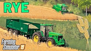 NEW JOHN DEERE HARVESTING RYE - Let's Play Goliszew Farming Simulator 19 | Ep 5