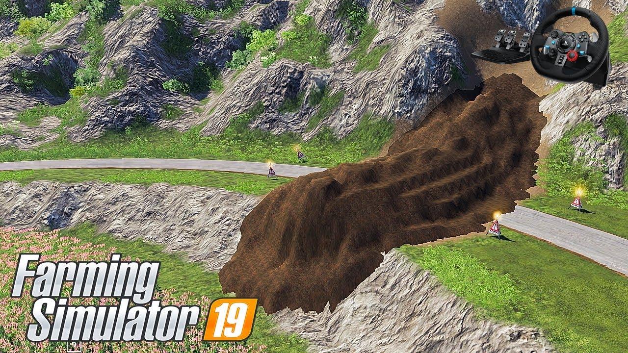 🔴 ดินถล่มถมทาง อุบัติเหตุครั้งใหญ่  EP.14 Farming Simulator 19 [Note Nueng]