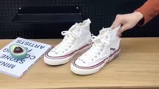 Women's Shoes 여자 복고 캔버스화  …