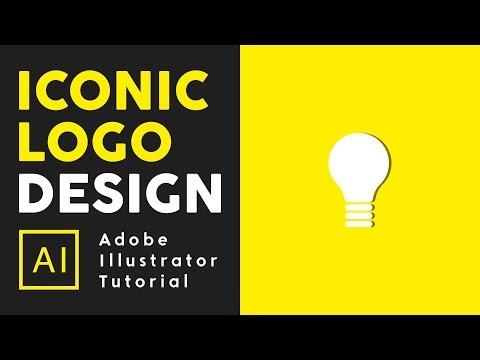 How to make Iconic Logo Design - Adobe illustrator Tutorial thumbnail
