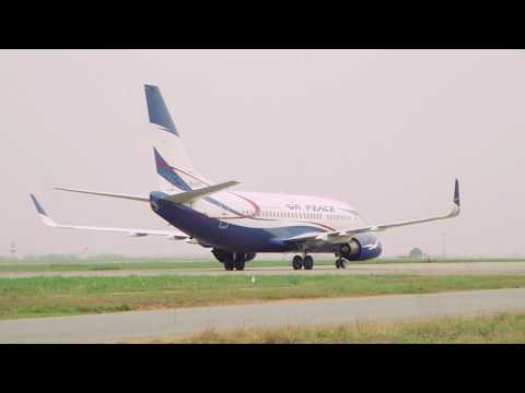 AIR PEACE BOEING 737 [TAXI & TAKE OFF] LAGOS AIRPORT