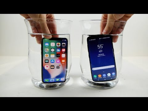 Thumbnail: iPhone X vs Samsung Galaxy S8 Water Freeze Test! - What Will Happen?