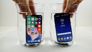 iPhone X vs Samsung Galaxy S8 Water Freeze Test! - What Will...