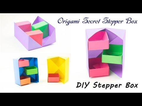 Origami Secret Stepper Box | How to Make Paper Secret Stepper Box | DIY Secret Stepper Box