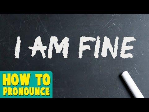 How To Pronounce 'I AM FINE' | Pronunciation In HINDI | Greetings | HD |  Lehren Kids