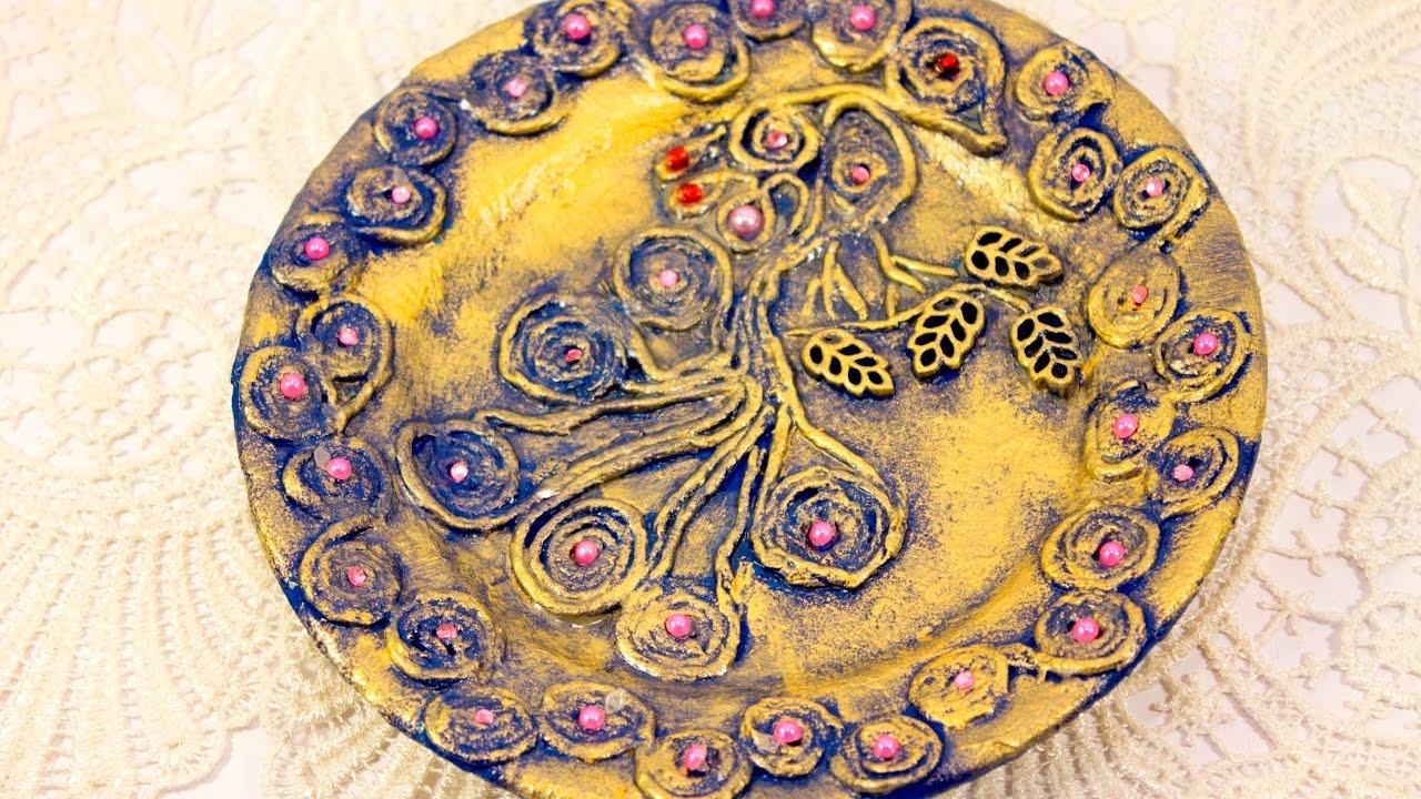 #22 wall plate decoration ideas wall decor DIY panel decoration plaque pape art & 22 wall plate decoration ideas wall decor DIY panel decoration ...