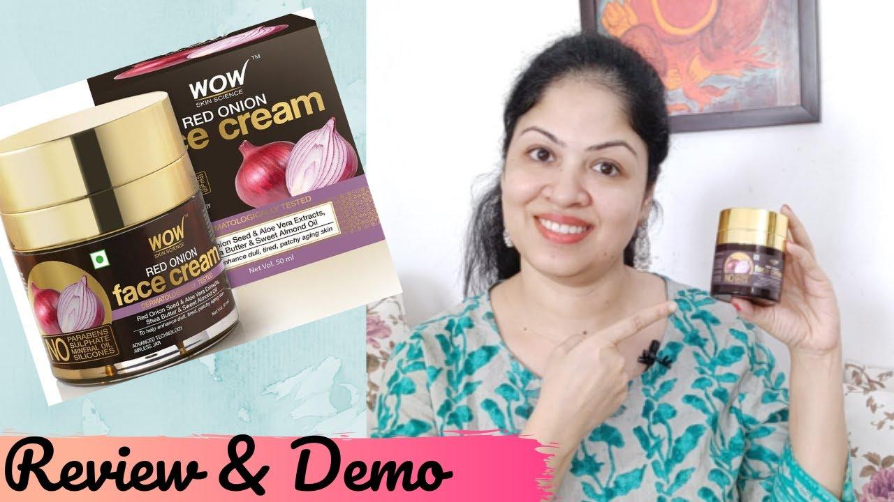 Wow Red Onion Face cream - Hydrating & repairing cream  | Anti-aging and skin-brightening cream
