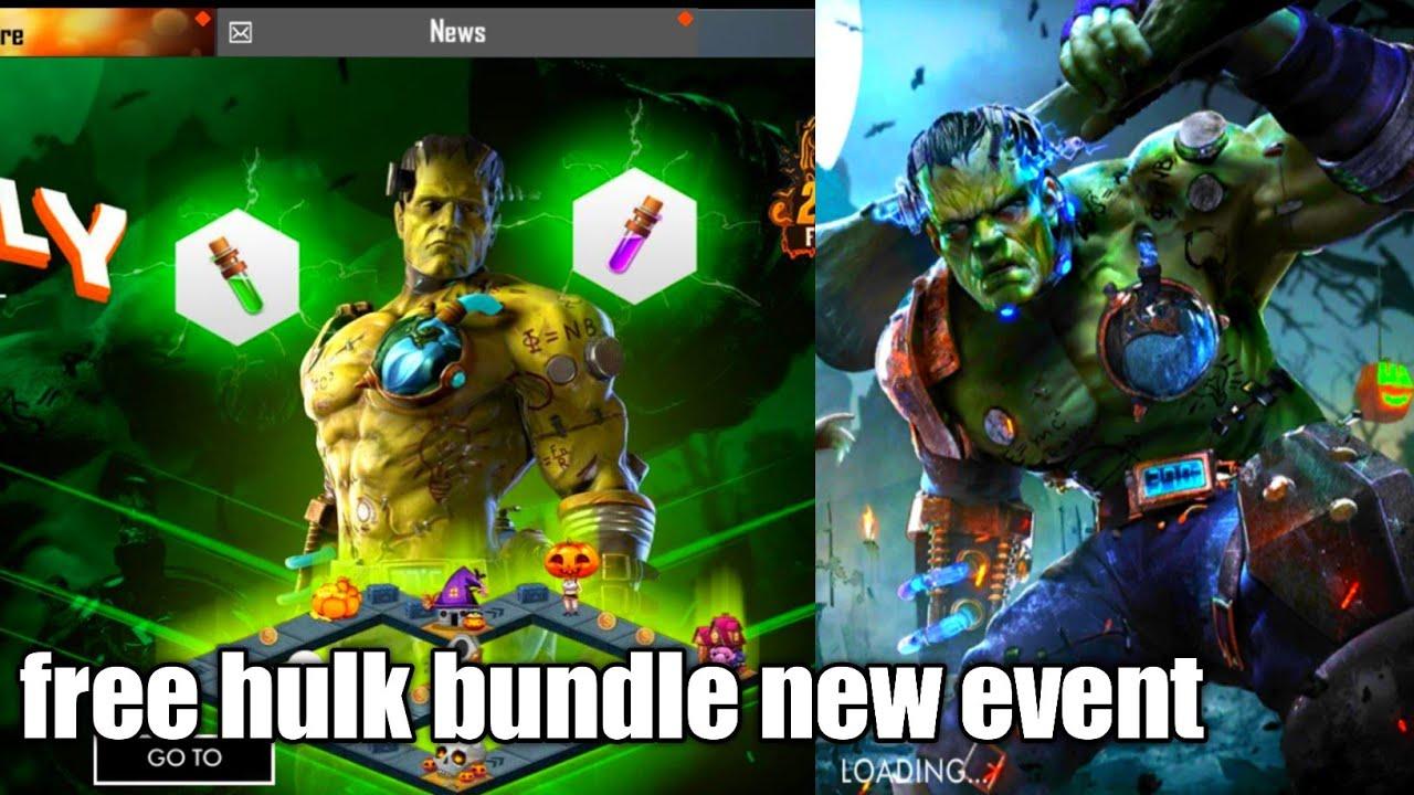 New event free hulk bundle.hulk event.gient event.garena free fire. -  YouTube