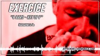 Exercice - 8 bars - Key of F - Harmonica Bb