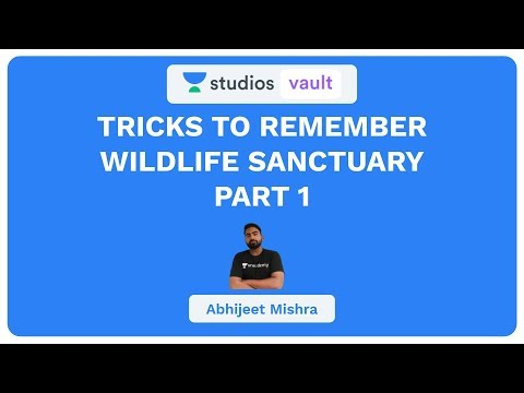 Tricks to Remember Wildlife Sanctuary Part - 1 I Banking I Abhijeet Mishra