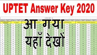 UPTET Answer Key 2020 Official UPTET Answer Key 2019 Paper 1  Pdf All 150 Ques UPTET Solved Paper 20