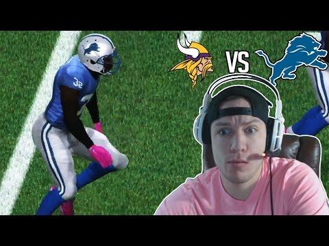 Madden NFL 17 Detroit Lions Franchise- Year 3 Game 5 vs Minnesota Vikings