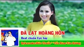 Karaoke ĐÀ LẠT HOÀNG HÔN  Beat Chuẩn Cực Hay Full HD