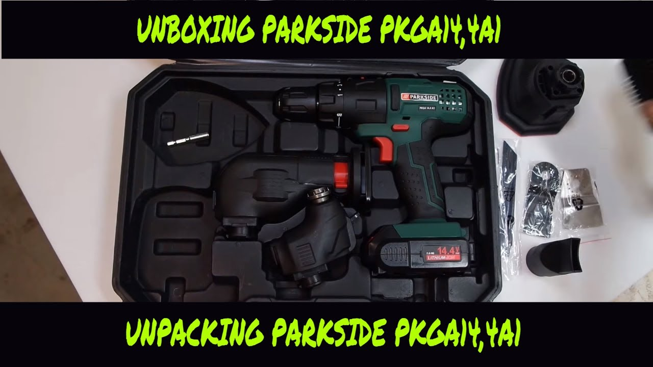 Unboxing utensile multifunzione 4 in 1 parkside pkga14 4a1 unboxing multifunction tool 4in1 for Parkside avvitatore