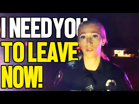 SHE DOESN'T LIKE BEING RECORDED - A SERGEANT STEPS IN